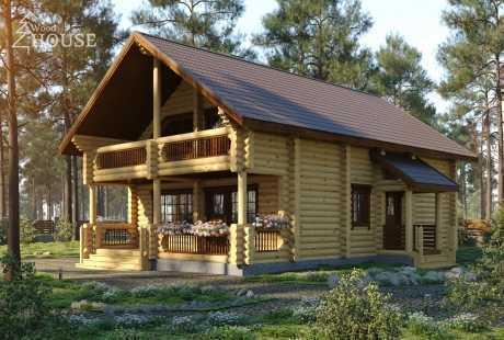 Дом из бревна 002