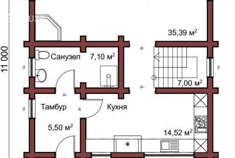 Дом из бревна 046
