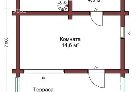 Баня из бруса 024