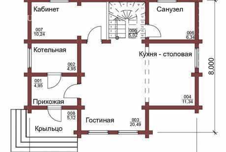 Дом из бревна 095