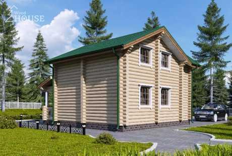 Дом из бревна 074
