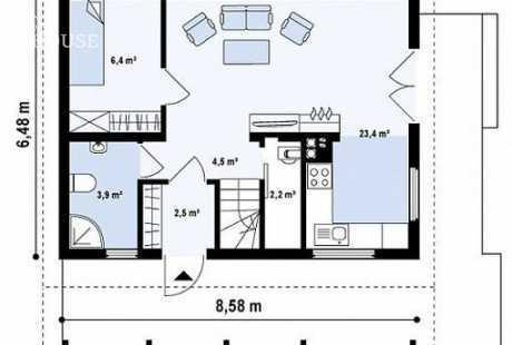 Дом из бруса 051