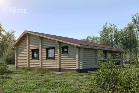 Дом из бревна 063