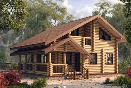 Дом из бревна 054