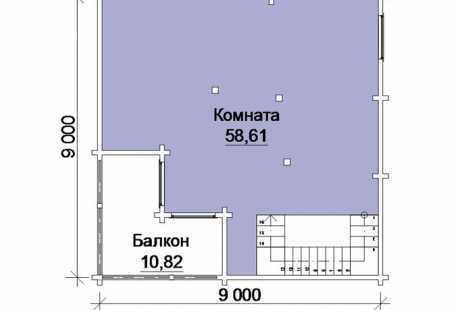 Дом из бруса 054