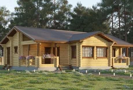Дом из бревна 088