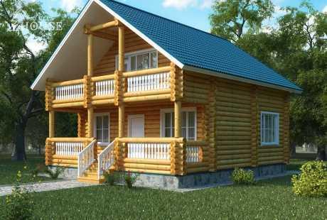 Дом из бревна 061