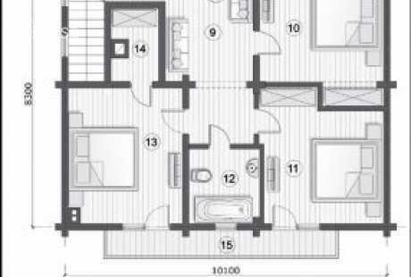 Дом из бруса 029