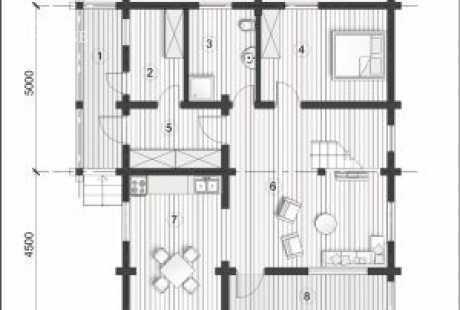 Дом из бруса 036