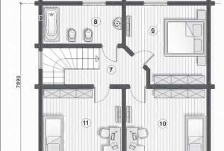 Дом из бруса 035