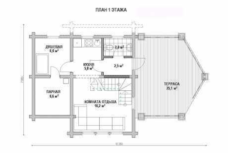 Дом из бруса 019
