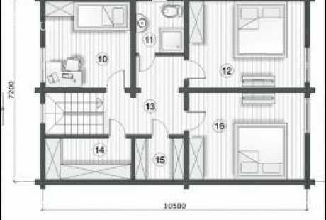 Дом из бруса 030