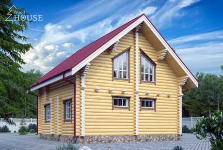 Дом из бревна 100